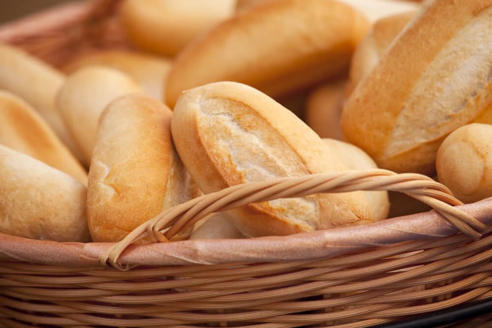 basket full of rolls for sandwiches