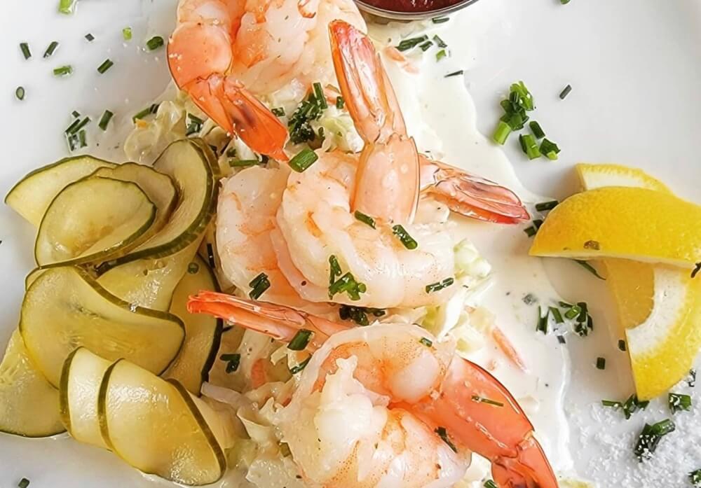 Shrimp Cocktail Sauce on Plate