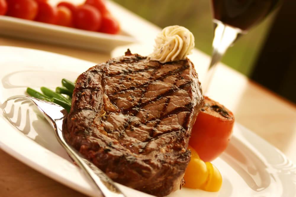 Ribeye Steak with Black Truffle Butter Recipe